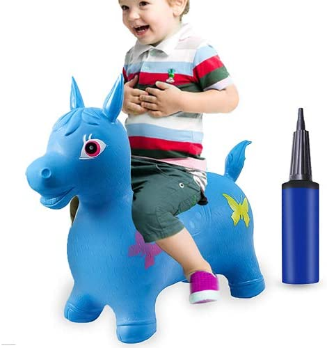 HAOMARK Hopping Animal Toy Inflatable Bouncy Horse Hopper with Pump for Kids Toddlers Jumping product image