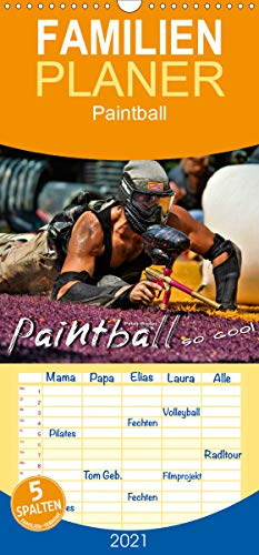 Paintball - so cool - Familienplaner hoch (Wandkalender 2021, 21 cm x 45 cm, hoch)