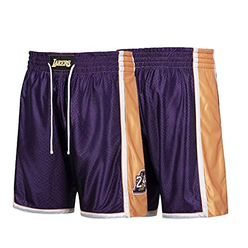 YPKL Kobe Bryant Jersey, Black Mamba Lakers 24# Purple Basketball Jerseys, Transpirable Swingman Jersey Fans Deportes sin Mangas camisetas-2xl Pants-XXL