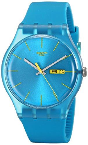 [スウォッチ]SWATCH 腕時計 NEW GENT(ニュージェント) TURQUOISE REBEL SUOL700 【正規輸入品】