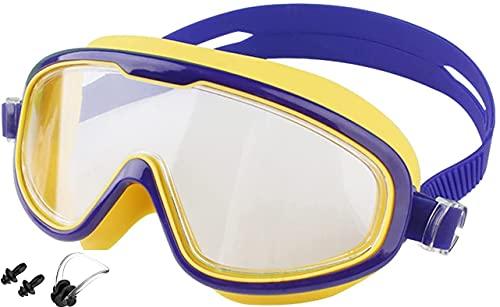 Moshbu Gafas de natación de silicona, gafas de natación 3D para adultos, gafas de natación impermeables y antivaho (2)