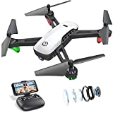SANROCK U52 Drone with 1080P HD Camera for Adults and Kids, WiFi Live Video FPV Drone RC Quadcopter for Beginner, Gravity Sensor, Altitude Hold, Headless Mode, 3D Flip, Custom Route, One Key Backward