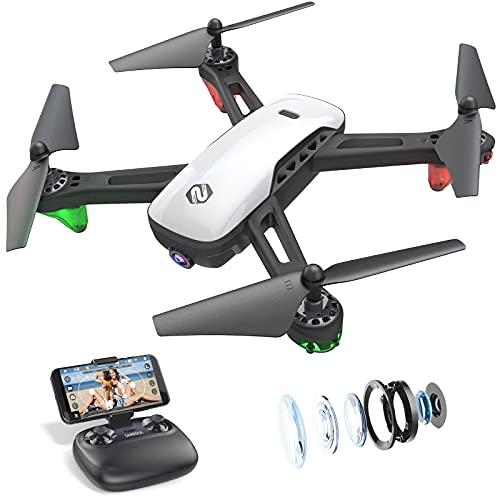 SANROCK U52 Drone con Telecamera 1080P HD Drone Professionale, WiFi Video Diretta FPV Droni Telecomandati per Principianti, Mantenimento dell altitudine, Modalit¨¤ Senza Testa, Capovolgimento 3D