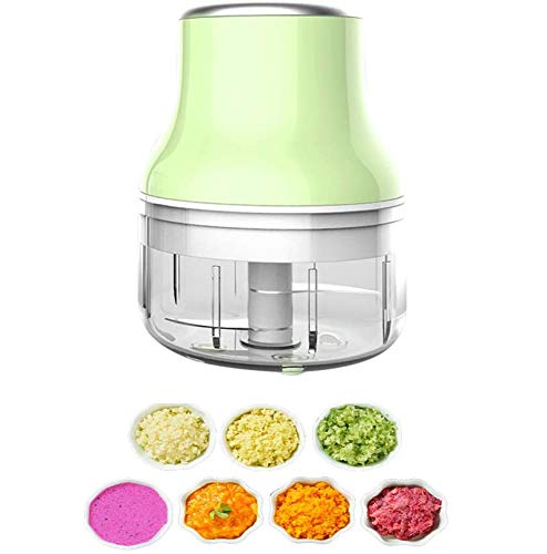 Vegetable Chopper, Fruit Vegetable Cutter,Food Speedy Chopper Slicer, USB Portable Mini Blender Mixer,for Chili Garlic Pepper Vegetable Nuts Etc,Mothers Day Gift,250 Green