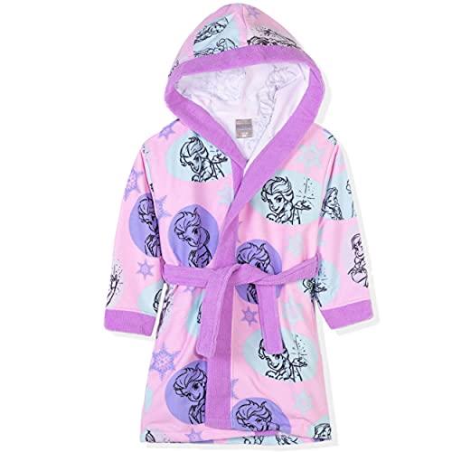 Disney Frozen, Minnie Mouse Character - Albornoz con capucha para niña (2 a 8 años), Morado (, 7-8 Años