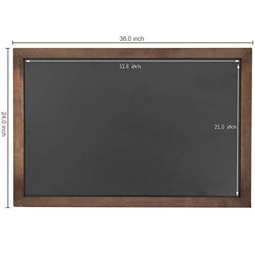 Vintage Wall Mounted Brown Wood Framed Chalkboard Sign / Retail & Cafe Menu Board - 36 x 24