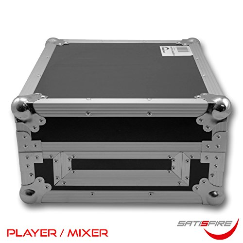Universal DJ-Equipment Case (für Mixer oder Player) | solider Transportkoffer mit Kugelecken | Flightcase | SATISFIRE