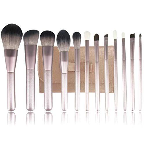 Pinceaux 12 Pcs Maquillage Pinceau Synthétique Kabuki Mélange Blush Correcteur Yeux Visage Poudre Liquide Crème À Lèvres Outil Beauté du visage