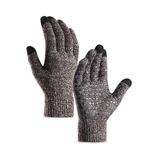 Invierno nuevos hombres y mujeres guantes de punto caliente gruesa lana cachemir guantes de masa de deportes al aire libre guantes de punto hombre