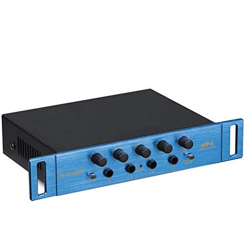WQGNMJZ HiFi Auriculares Amplificador Auriculares Ecualizador N-Audio HP4 Amplificador De Auriculares 4-Canal De Auriculares Monitor Estéreo De Salida Amplificador Monitor