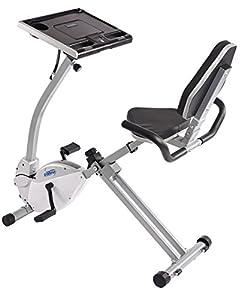 Stamina 2-in-1 Recumbent Exercise Bike Workstation & Standing Desk