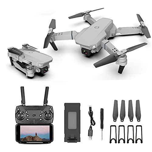 Dron 4K HD con Cámara Dual Gran Angular, Control Remoto WiFi Quadcopter Plegable para Adultos Avión FPV Juguete de Regalo Minutos Largos Tiempo de Vuelo Estuche de Transporte