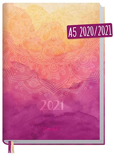 Chäff-Timer Classic A5 Kalender 2020/2021 [Mandala] Terminplaner 18 Monate: Juli 2020 bis Dez. 2021   Wochenkalender, Organizer, Terminkalender mit Wochenplaner - nachhaltig & klimaneutral