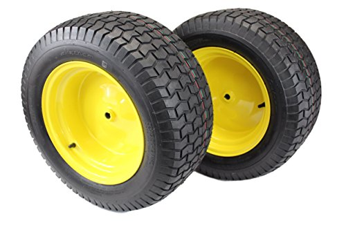 (Set of 2) 22x9.50-12 Tires & Wheels 4 Ply for JD Lawn & Garden Mower