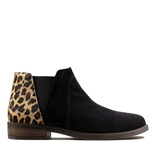 Clarks Demi Beat Womens Ankle Boots Leopard Print Pony 41 EU