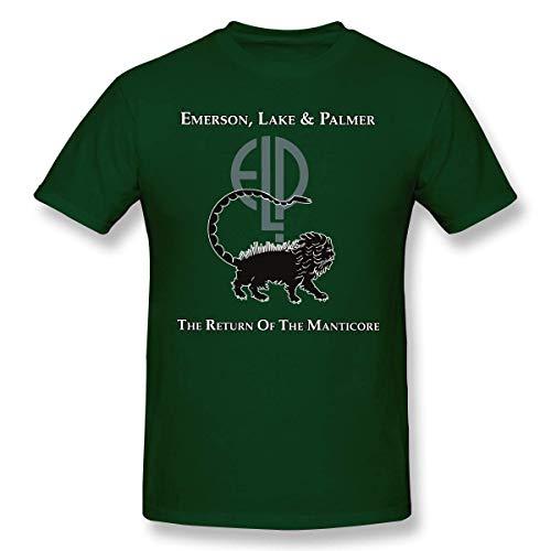 fshsh Camisetas y Tops Hombre Polos y Camisas Emerson Lake and Palmer Logo Men Classic Shirt