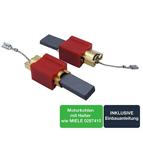 Ersatzteil Motorkohlen/Kohlebürsten/Kohlestifte für Reparatur von Waschmaschinen von MIELE, - 2er Set - passend wie 4297413/4297414 / 4297410 /