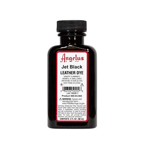 Angelus Leather Dye, 3 oz, Jet Black