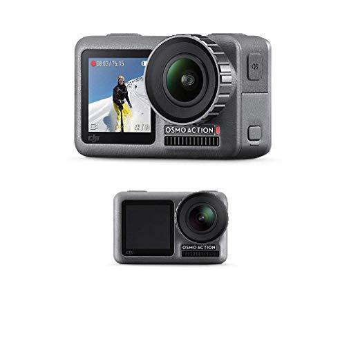 DJI Osmo Action + Care Refresh - Action Cam Digitale + Versicherung, Actionkamera mit 2 Bildschirmen 11m wasserdicht 4K HDR-Video 12MP 145° Winkelobjektiv Kamera 1