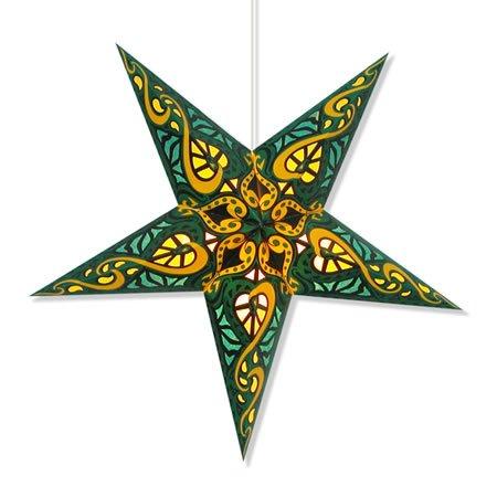 Celtic Green Paper Star Lantern