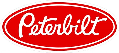 Large Peterbilt Sticker Decal in Red
