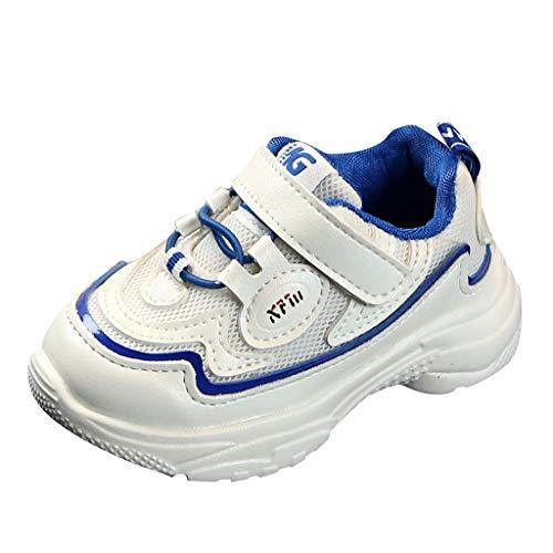 Lazzboy Kinder Baby Mädchen Jungen Mixed Color Sport Run Turnschuhe Freizeitschuhe Bequeme Trekkingschuhe, Strapazierfähige Laufsohle, Knöchelhalt - Für Reisen, Camping Größe 21-30(Blau,30)