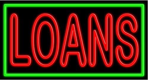 Safety and trust Loans Glass neon Sign USA A surprise price is realized in Made #11089