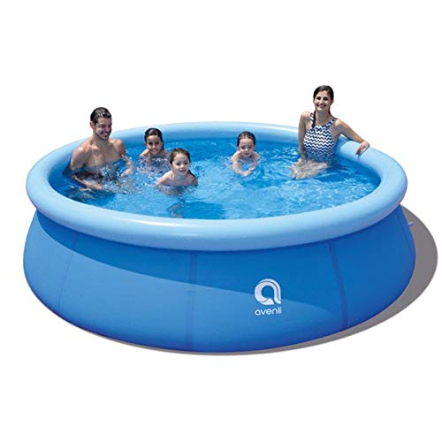 Family Inflatable Swimming Pool,Inflatable Kiddie Pools,Inflatable Top Ring Swimming Pools, Adults Pools Inflatable Outdoor Garden Waters Sports Game Easy Set Durable (10ft x 30in)