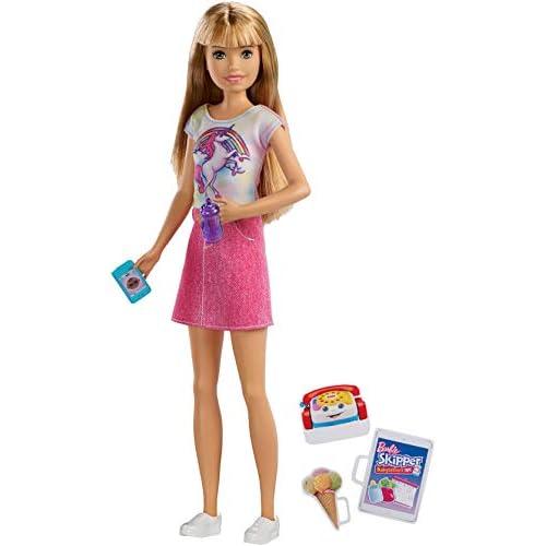 Barbie Bambola Skipper Bionda Babysitter con Cellulare, Biberon e Accessori, Giocattolo per Bambini 3 + Anni, FXG91
