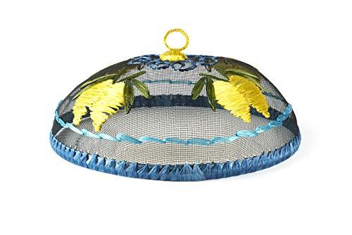 Excelsa Amalfi Coprivivande a Rete, Blu e Giallo, Diametro: 30 cm