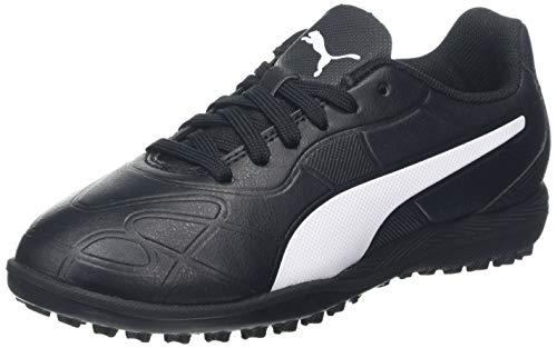 Puma Monarch TT Jr, Unisex-Kinder Fußballschuhe, Puma Black-Puma White, 29 EU