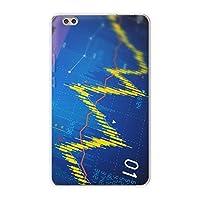 igcase dtab compact d-02k docomo dタブ 用 タブレット ケース タブレット カバー TPU ソフトケース 008253 ユニーク グラフ 青 ブルー デジタル