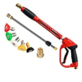 Tool Daily Deluxe Pistola de Lavado de Alta presión, con extensión de Varita de Repuesto, 5 Puntas de Boquilla, M22, 40 Pulgadas, 5000 PSI
