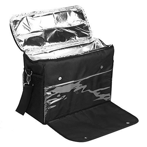 Bolsa de almuerzo grande 35X29X15cm, Mochila de enfriamiento de gran capacidad Bolsa de enfriamiento portátil con correa para el hombro extraíble, para acampar, caminar, hacer barbacoas