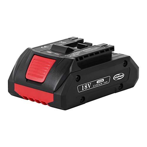 DSANKE 4,0Ah Akku 18V Ersatzakku für Bosch BAT609 4000mAh Lithium-Ionen BAT609G, BAT618, BAT618G, BAT610G, BAT619, BAT619G 100% Kompatibel