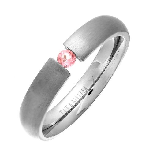 Theia Ring Titan Court Rosa Saphir SpannMatt 4,5mm - Größe 66 (21.0)