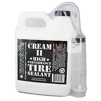 Truckerco Cream 2 II Tubeless Tire Sealant High Performance 1 Liter/Quart