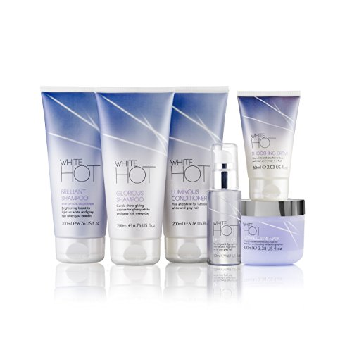 White Hot Ultimate Collection, hair care products to brighten, add gloss & shine to white and grey...