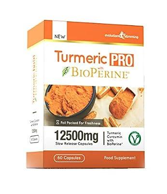 Turmeric Pro with BioPerine® 12,500mg 95% Curcuminoids, Suitable for Vegetarians, 60 Capsules