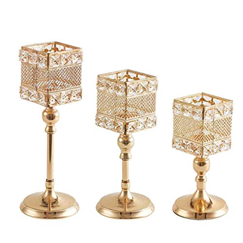 Kandelaar set, kristal kandelaar for kaarsen, kandelaars, goud ijzer, theelichthouders for bruiloften, tafeldecoratie