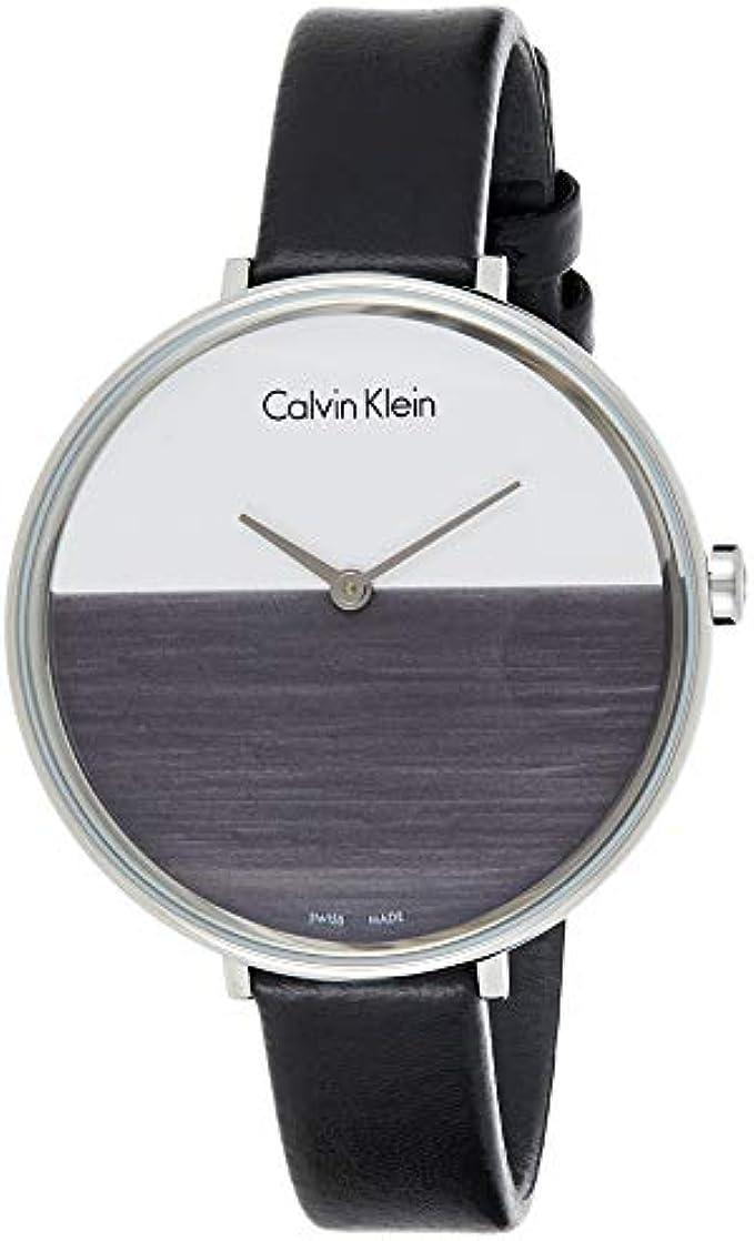 Calvin Klein Women's Analogue Quartz Watch with Leather Strap K7A231C3
