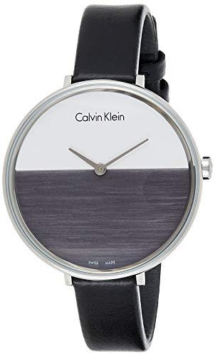 Calvin Klein Reloj Analogico para Mujer de Cuarzo con Correa en Cuero K7A231C3