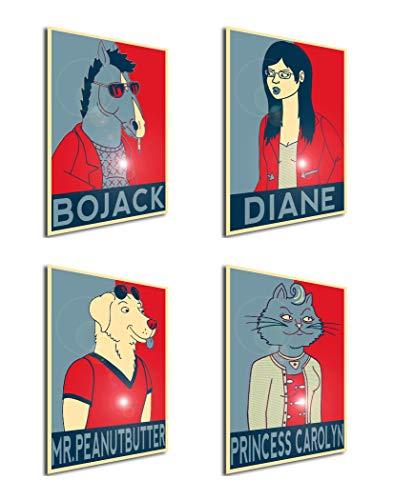 Instabuy Set von 4 Mini-Poster Propaganda BoJack Horseman 01