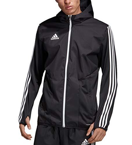 adidas Men's Tiro 19 Warm Jacket (Large) Black/White