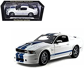 SHELBY COLLECTIBLES 1:18 LEGEND SERIES - 2011 FORD SHELBY GT350 WITH BLUE STRIPES 351WH