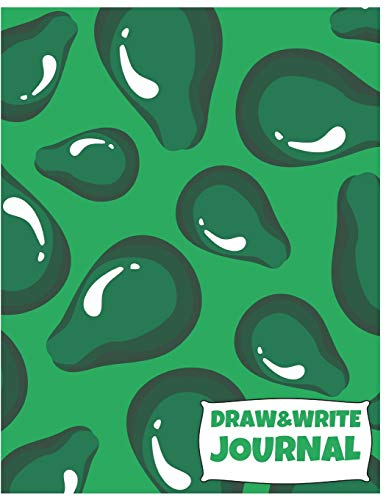 Draw&Write Journal: Cute Avocado Journal/Notebook For...