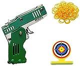 Juguete de pistola de goma plegable de metal, llavero de goma para pistola, juguete de deporte al aire libre para niños, juego de actividades al aire libre (verde)