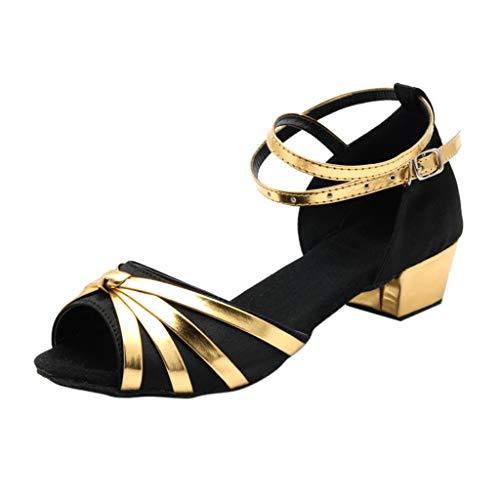 TEBAISE Ausgestelltes Brautschuhe Tanzschuhe Damen Mädchen Standard Latein Pumps Latin Schuhe Gesellschaftstanz Schuhe Hochhackig Pailletten High Heel Tango Modernes Ballrom Tanzschuhe Dance Schuhe