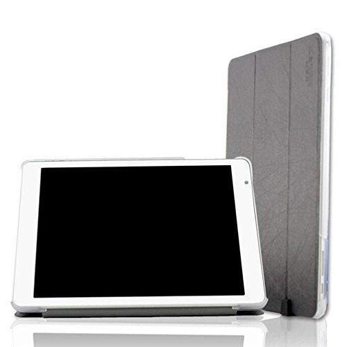 Teclast X98 Pro Funda,Vikoo Ultra Slim Ligera Smart-cáscara Cuero Cover Tablet PU Leather Case para Tableta Teclast X98 Pro 9.7'' - Gris