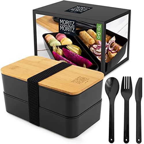 Moritz & Moritz Bento Lunch Box – Bento Box Parfaite pour Adultes et Enfants - Boite Repas Compartiment - Idéale pour le Travail, l'Ecole et les Déplacements - Lunchbox